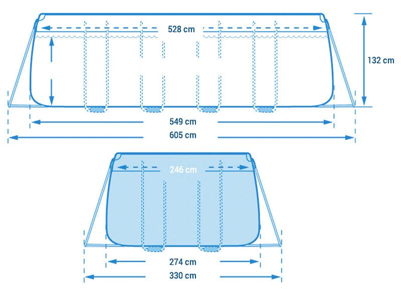 Risultato immagini per intex piscina 26356